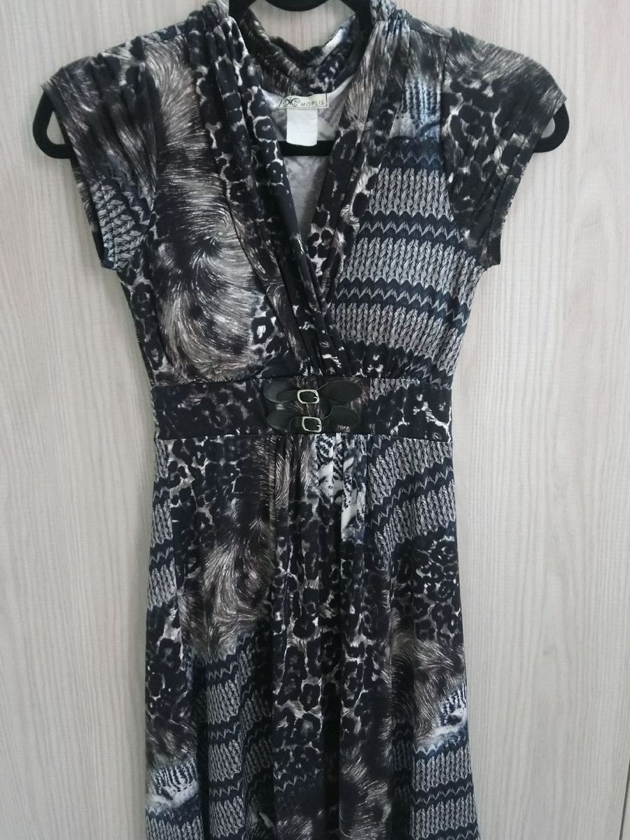 vestido animal print - vestidos moplis