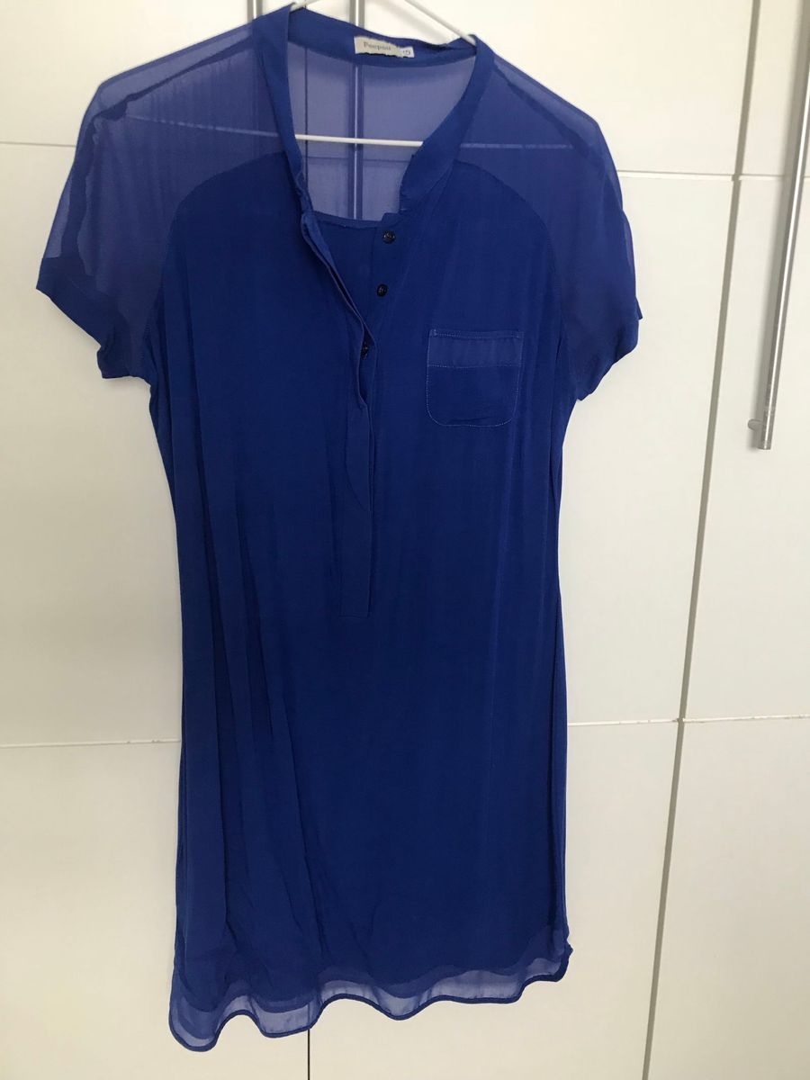 Vestido azul caneta