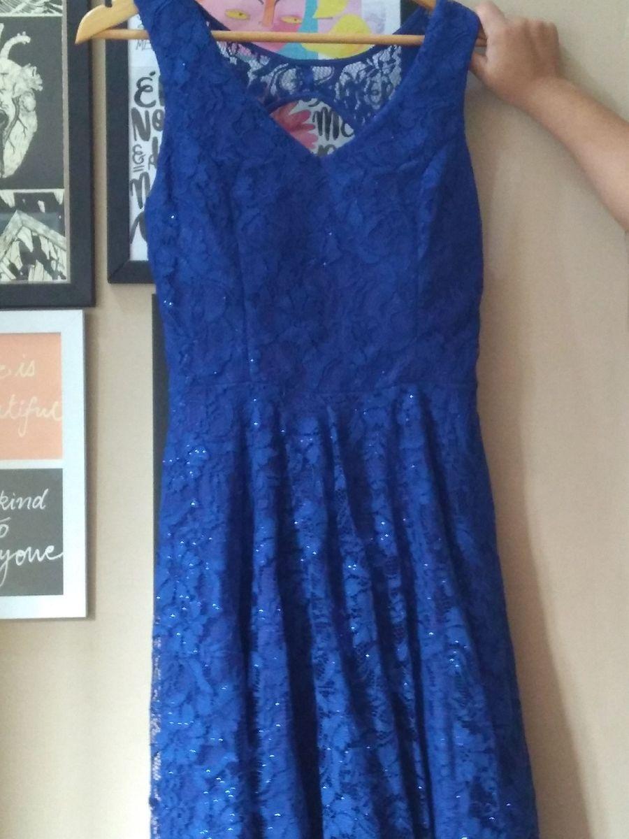 vestido azul mendry - vestidos de festa mendry