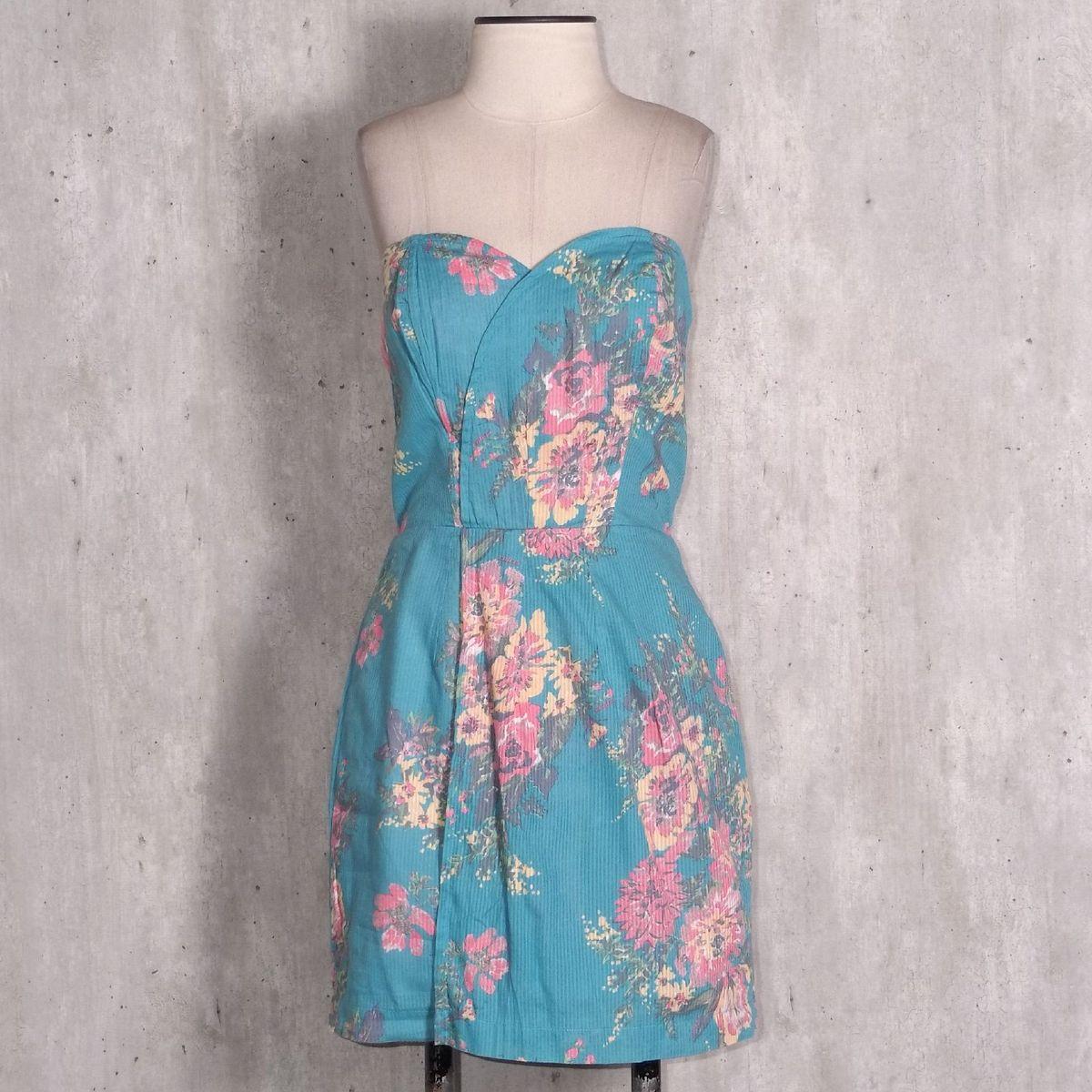 cce53736c Vestido Azul Floral Colcci
