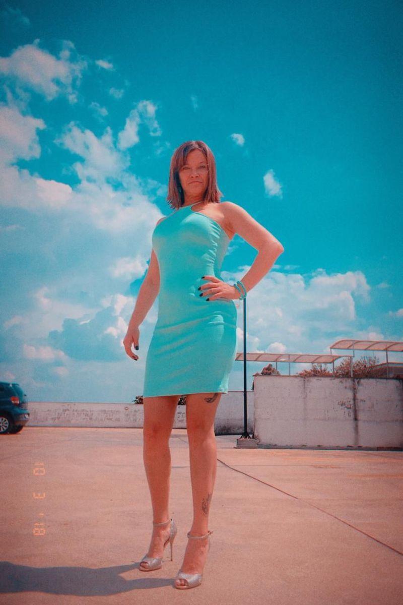 vestido azul turquesa - vestidos sem marca