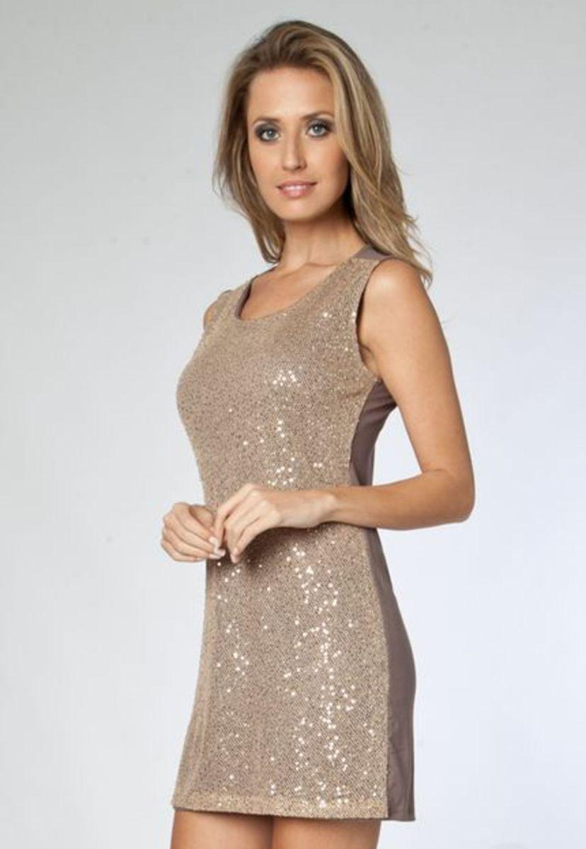 a1fe0ca4a Vestido Bordado Dourado | Vestido de Festa Feminino Fiveblu Usado ...