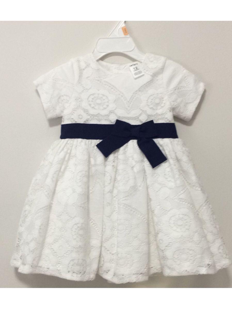 a8f5eb1407 Vestido Branco Batizado