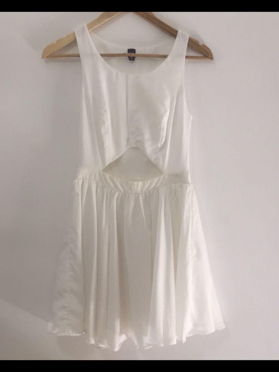 Vestido Branco Curto Farm