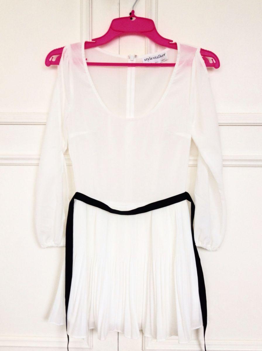 vestido branco plissado - vestidos stylestalker