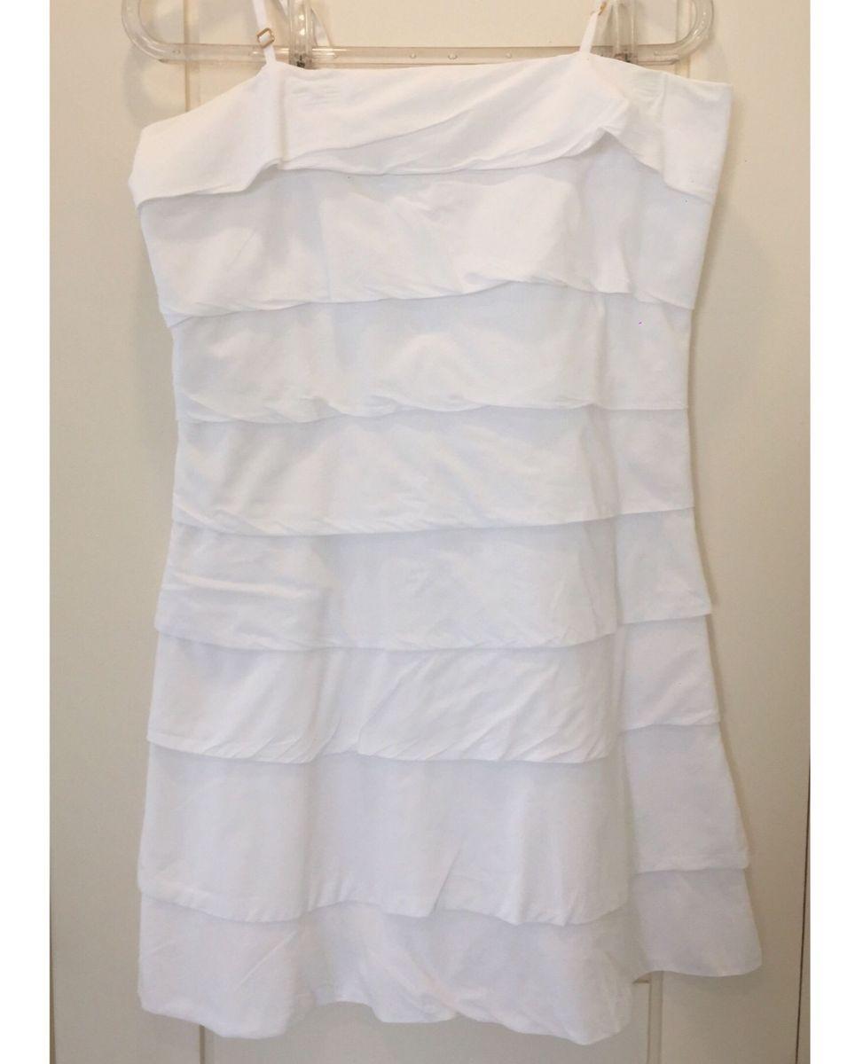 Vestido Camadas Branco Farm