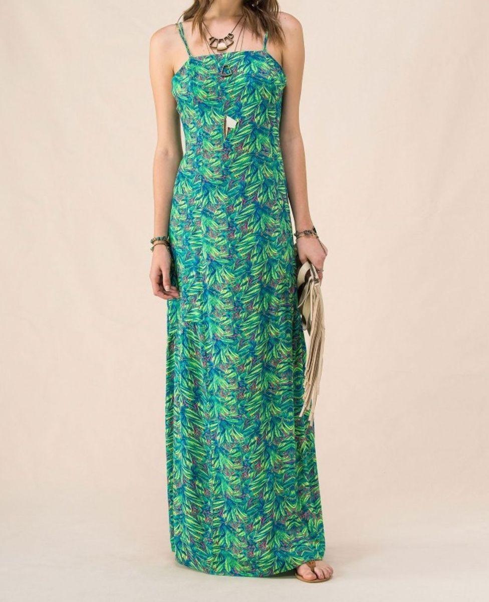 8b3a5b088b vestido cantão longo floral verde - vestidos cantão