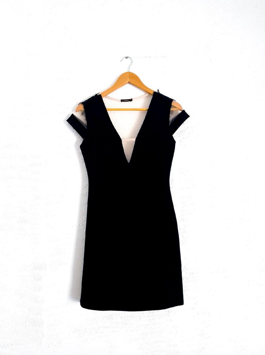 vestido curto preto - vestidos cheers