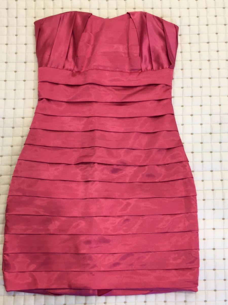 268a38c6e4 vestido curto rosa pink decote coração - vestidos de festa luís serafim