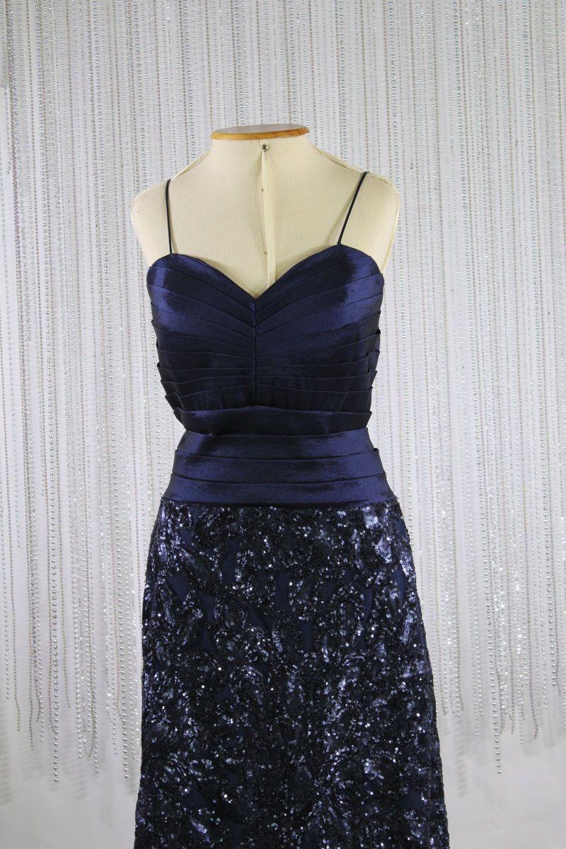 dbf40c39c8 vestido de festa curto azul marinho paetê - vestidos de festa sem marca