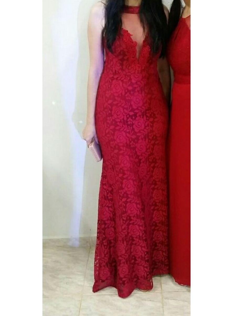 c3549d1f9 vestido longo em renda + bolsa festa + brinco festa - vestidos de festa sem-