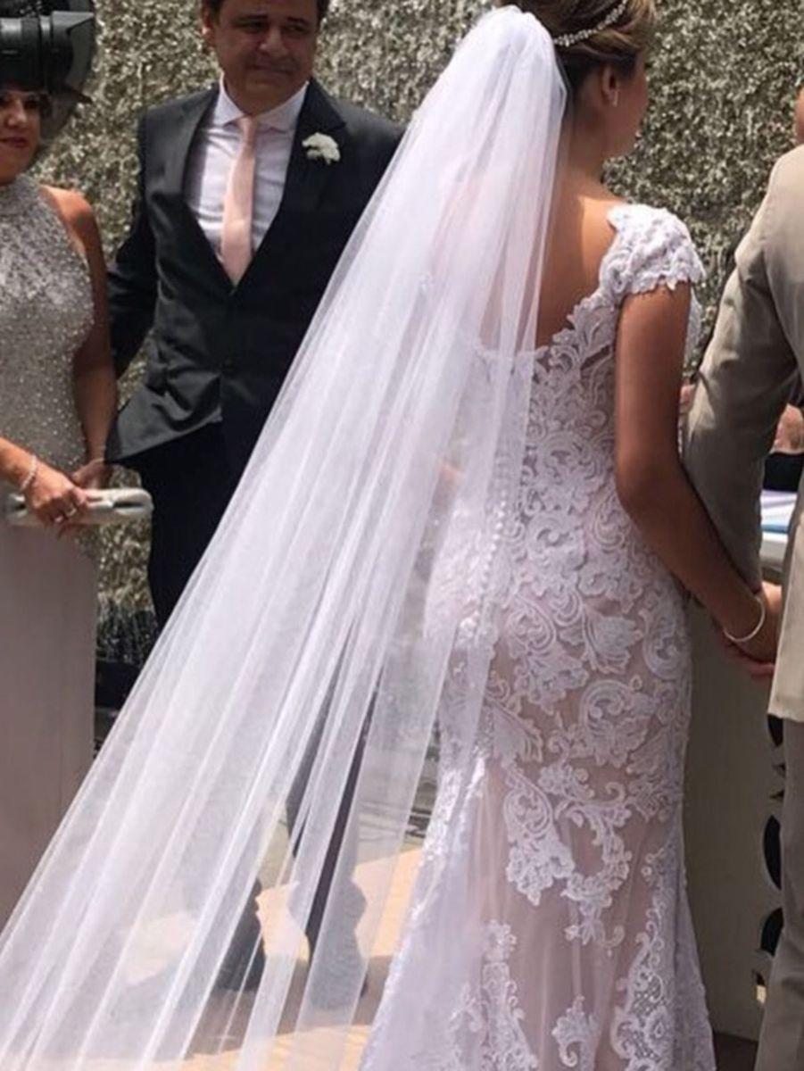 4d4ebbe18 Vestido de Noiva Alta Costura   Vestido de Festa Feminino Usado ...