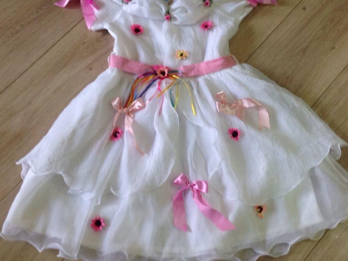 Vestido De Noiva Quadrilha Roupa Infantil Para Menina Duzzi Usado