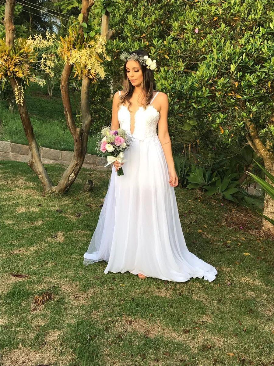 vestido de noiva - casamento sem marca