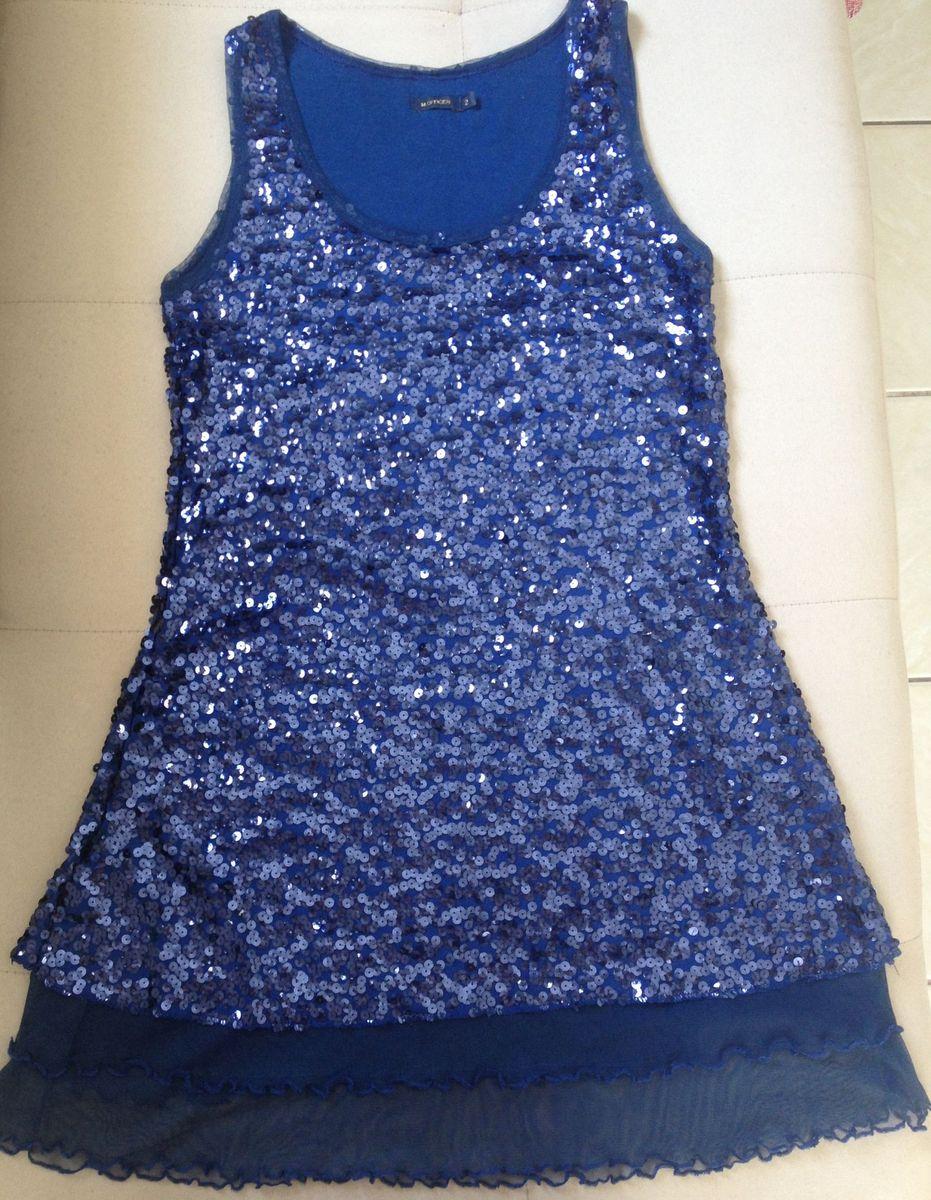 898186f98 Vestido de Paetês Azul Marinho   Vestido de Festa Feminino M Officer ...