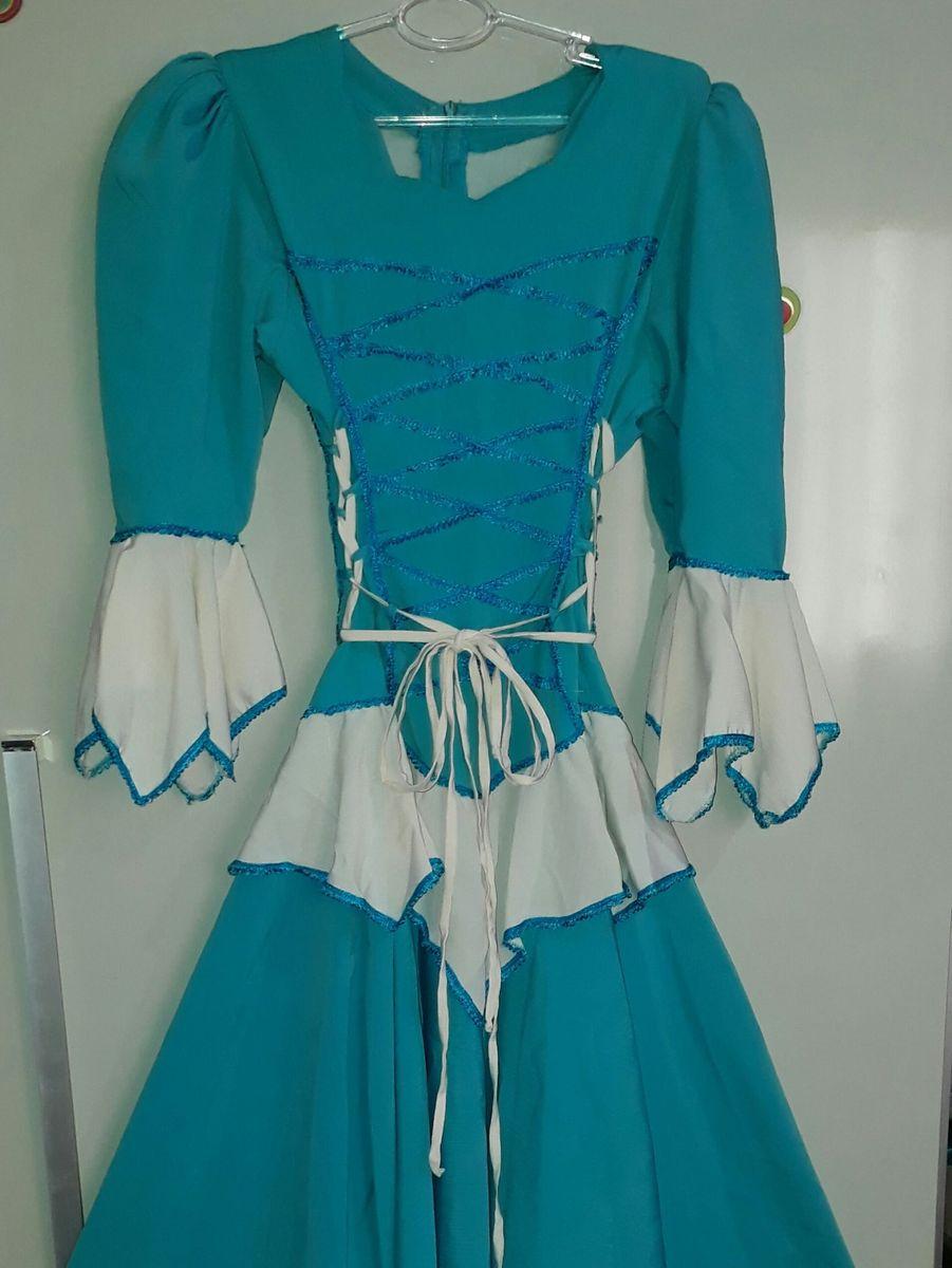 7f69969824 vestido de prenda vestido para dança gaúcha folclórica festa junina -  vestidos sem-marca