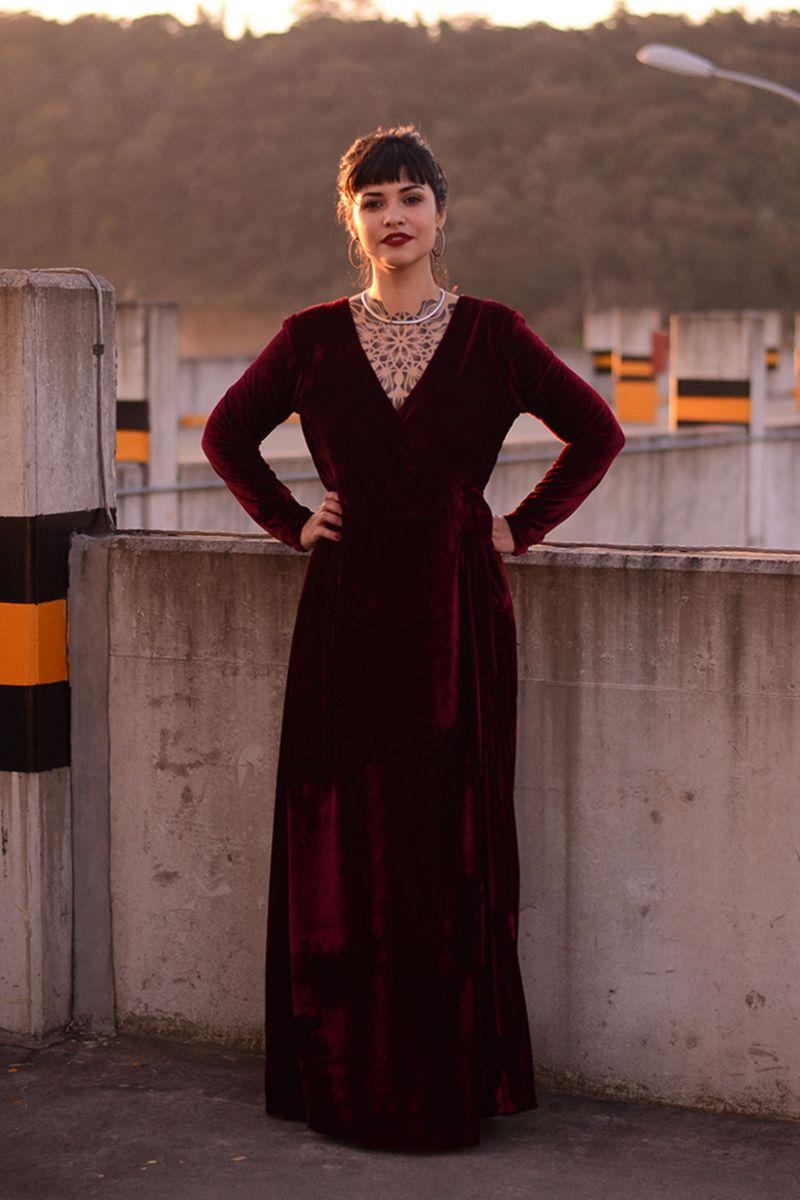 vestido de veludo de festa - vestidos miranda