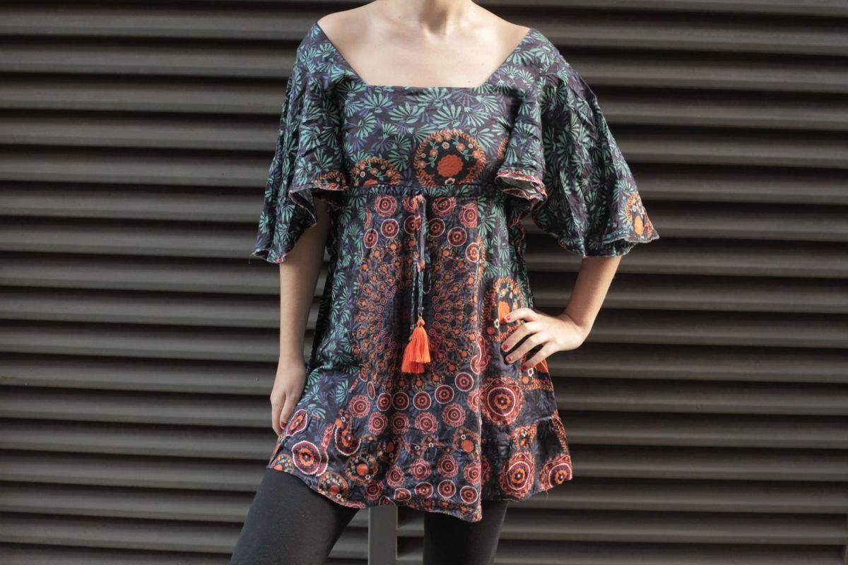 94196c2a4 vestido dress to pompom eru gypsy boho folk hippie roots étnico geométrico  oriental - vestidos dress