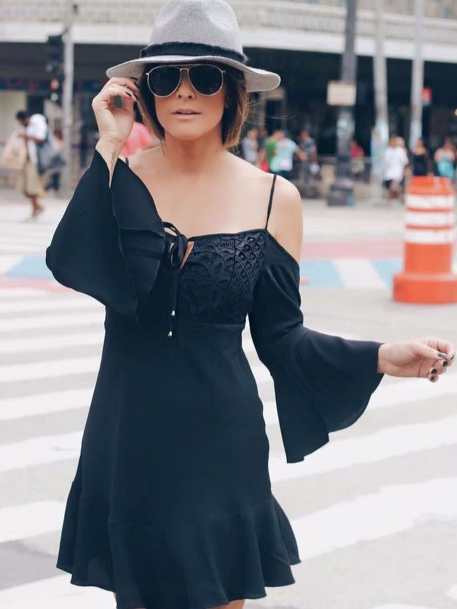 vestido em crepe estilo ciganinha apoá - vestidos apoa