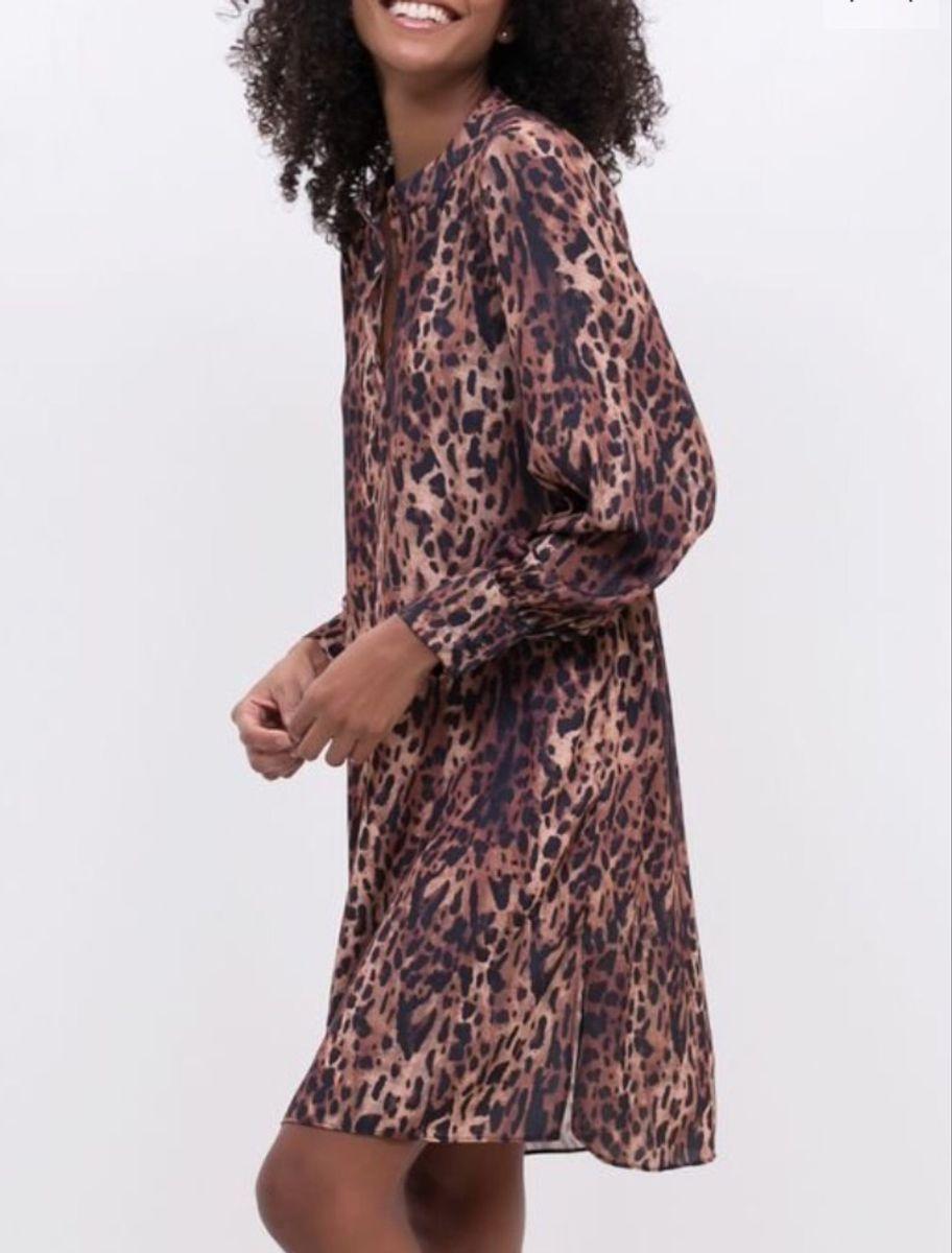 vestido estampa animal print novinho - vestidos renner