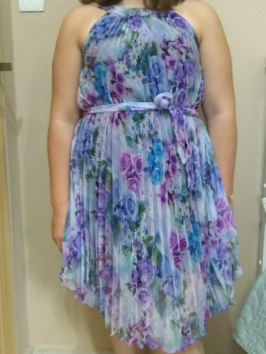 vestido estampado - vestidos de festa sem marca