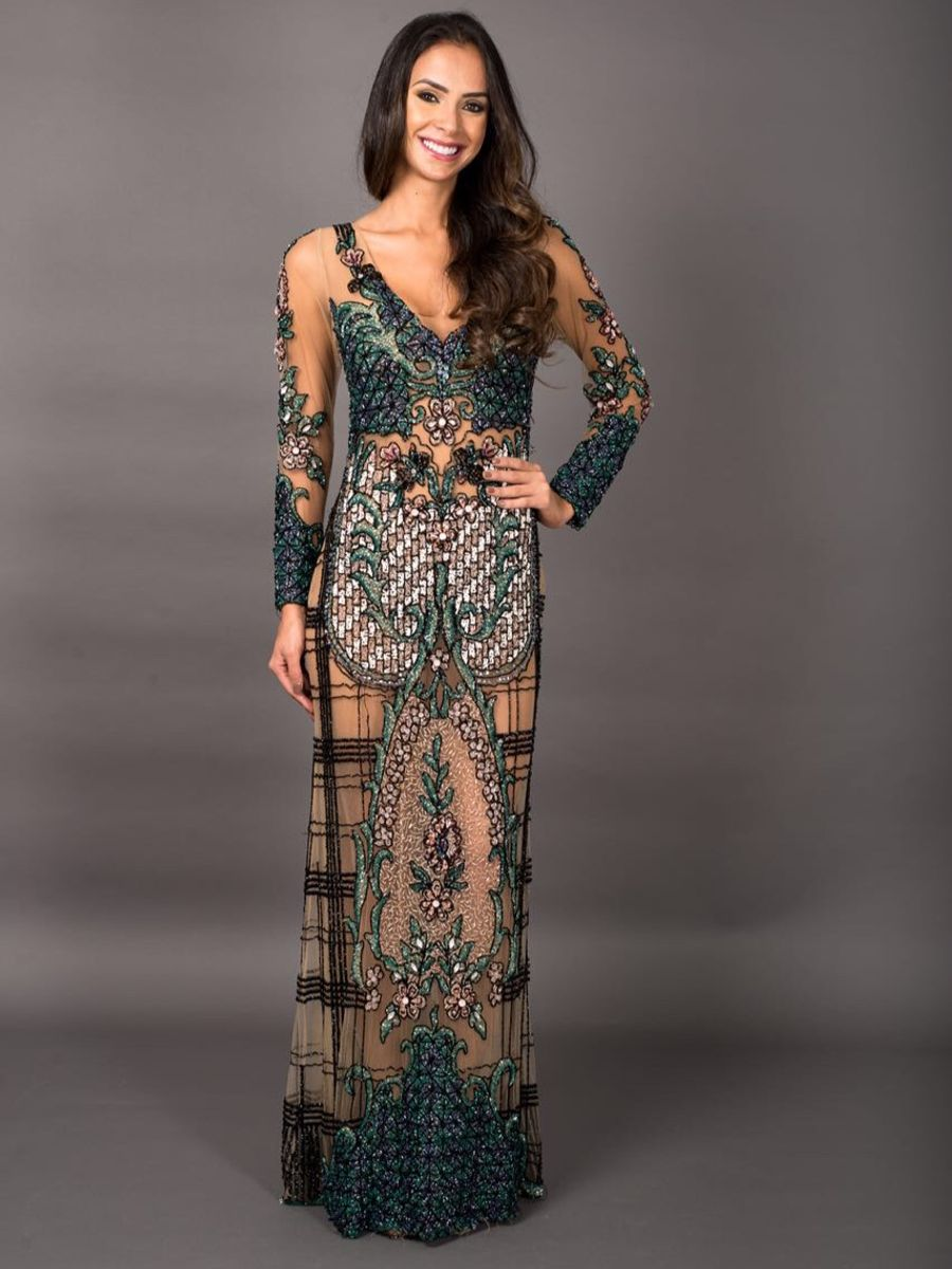 9addc9203 vestido fabiana milazzo inteiro bordado a mão - vestidos de festa fabiana  milazzo