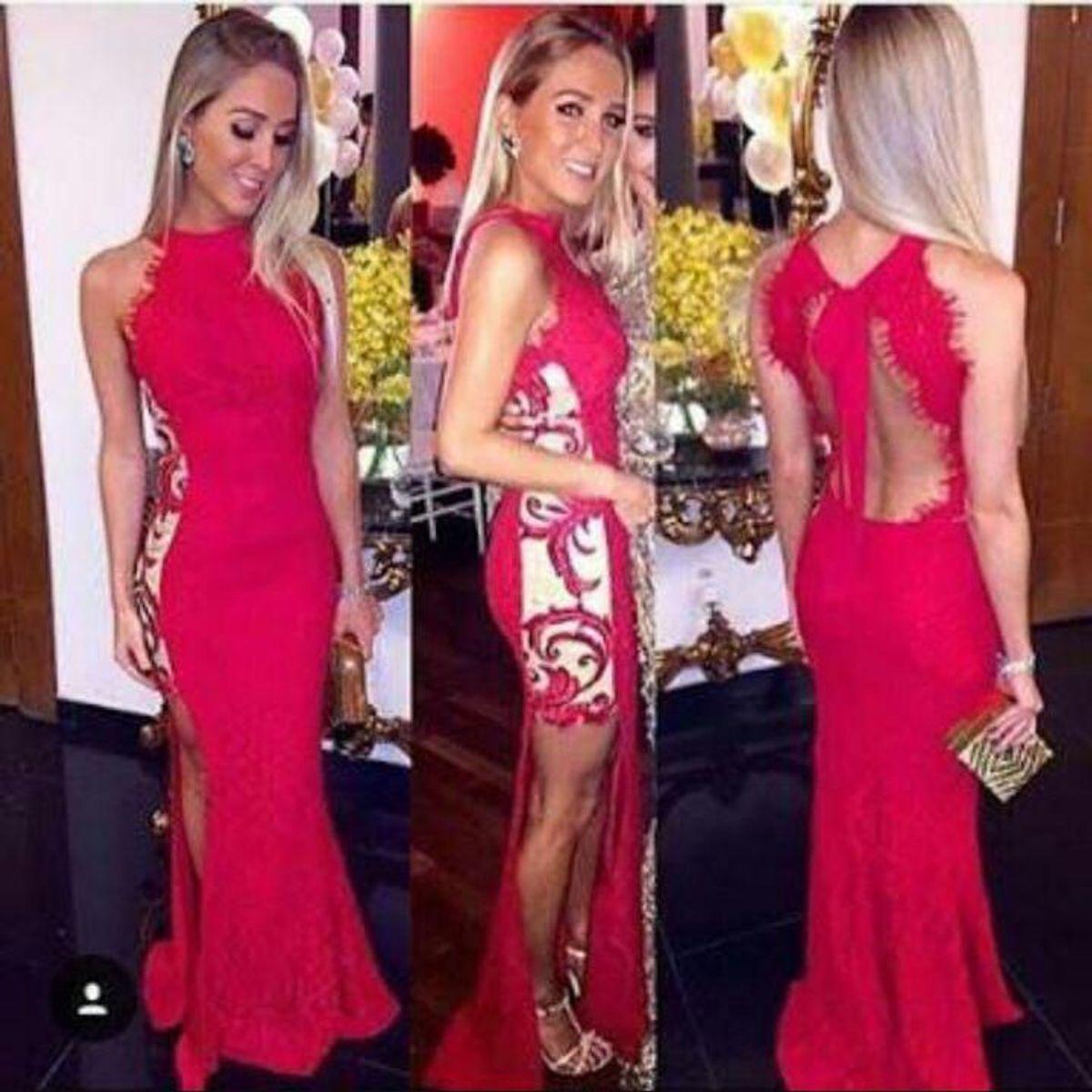 6d9dd337c Vestido Fabulous Agilita Longo Vermelho de Festa para Formatura Ou Convidada  de Casamento. | Vestido de Festa Feminino Fabulous Agilita Usado 33643593 |  ...