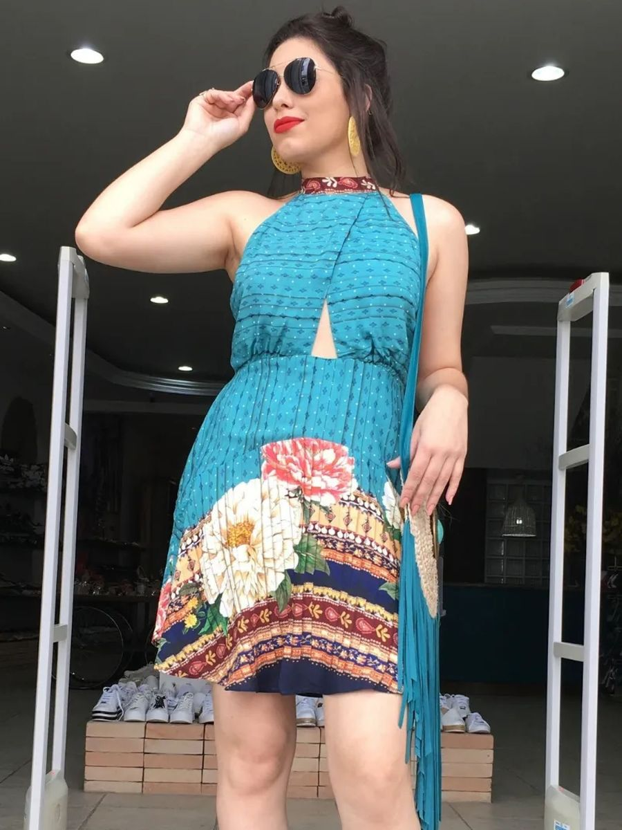 vestido farm flor do cerrado - vestidos farm