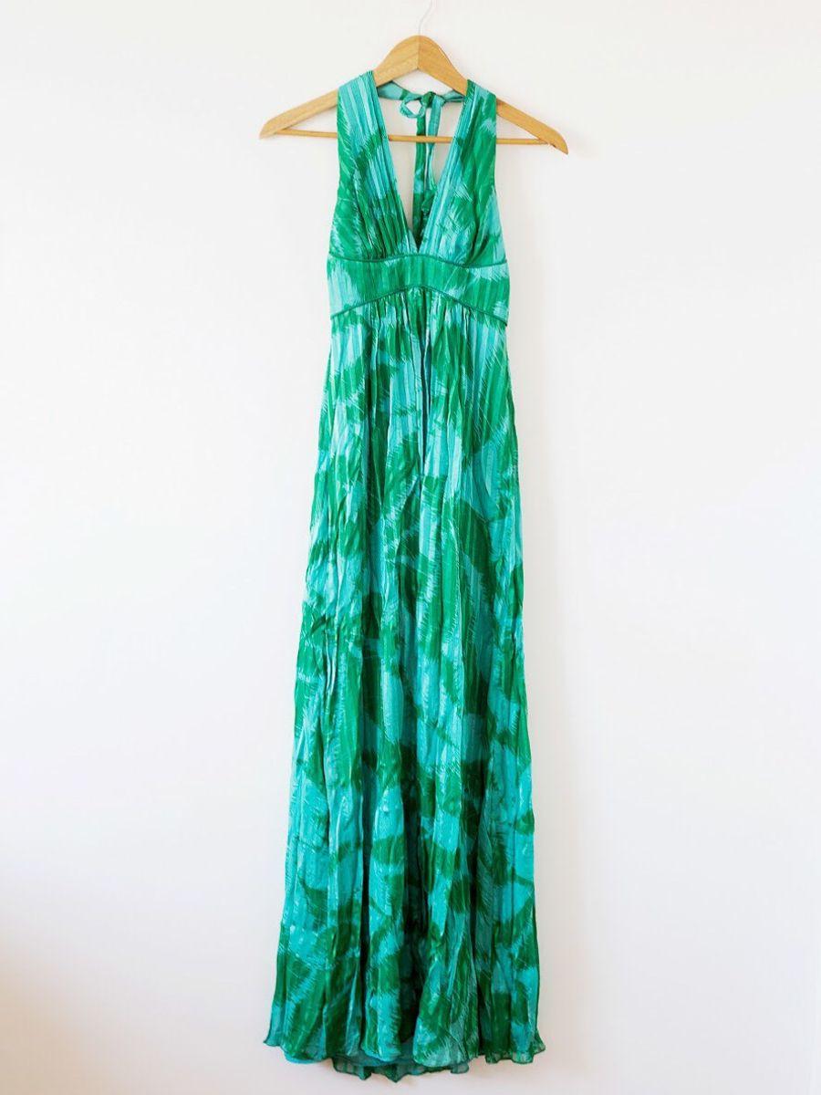 cb5bdd1aa3 vestido festa 100% seda bcbg max azria verde - vestidos de festa bcbg