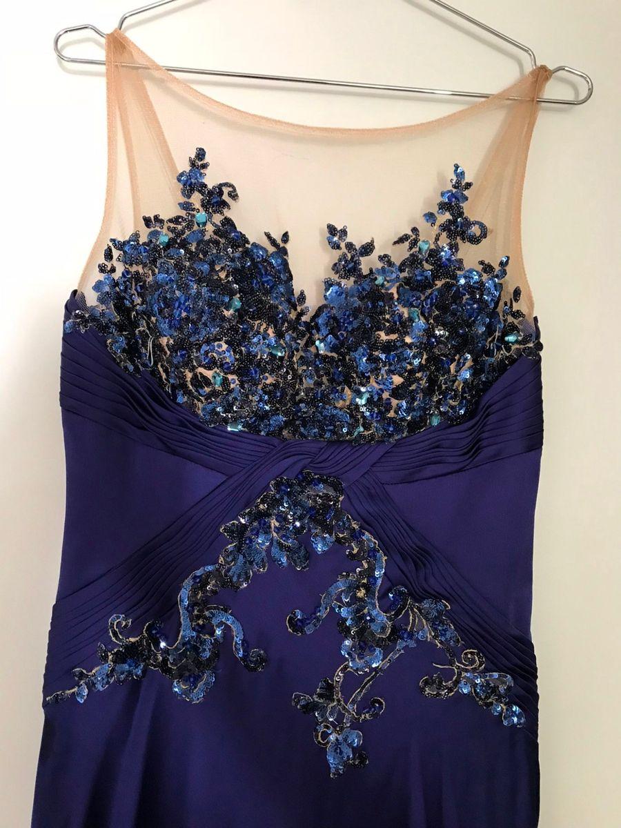Vestido Festa Azul Avanzzo