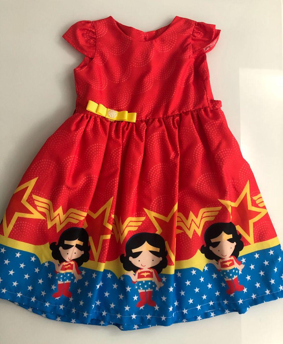 4d2003f9ac vestido festa mulher maravilha 6 anos - menina sem marca