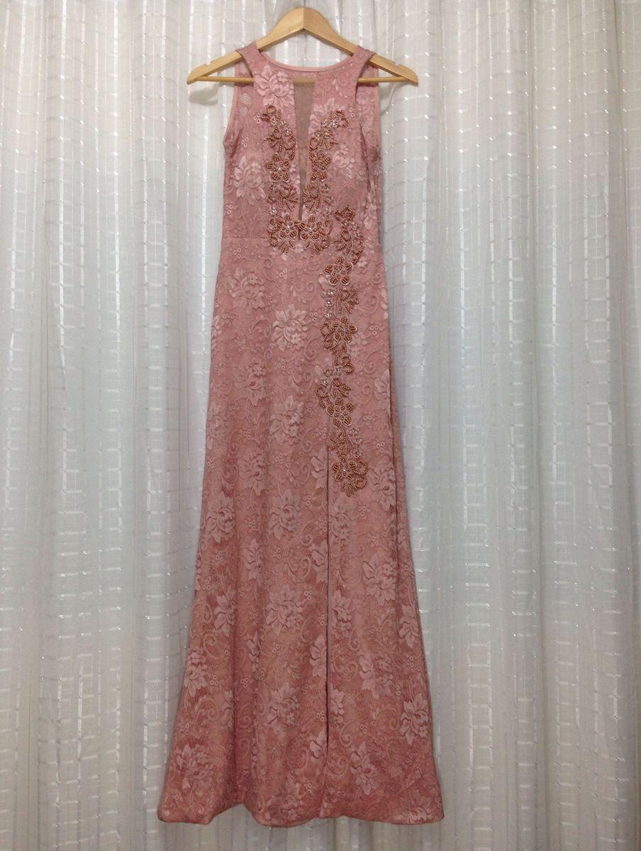 Vestido Festa Rosa