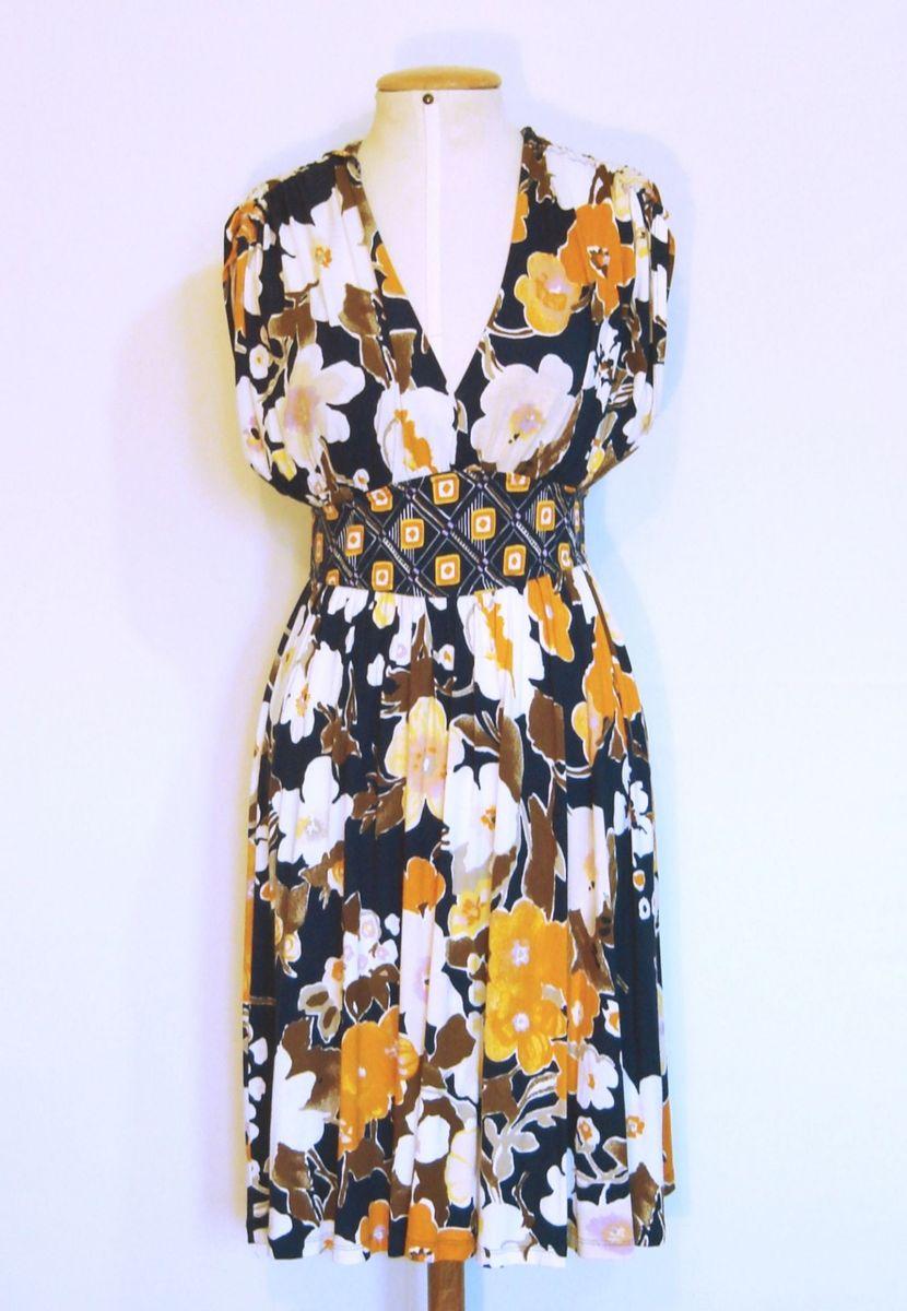 vestido floral tendência primavera 2018 36/40 - vestidos lofty style
