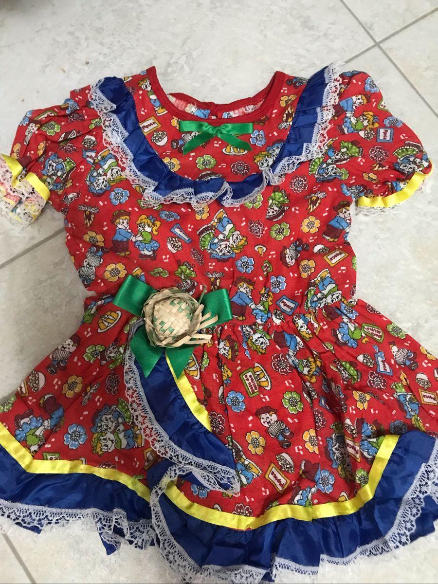 bf6dcc730 Vestido Infantil Festa Junina Al Roupa Infantil Para Menina