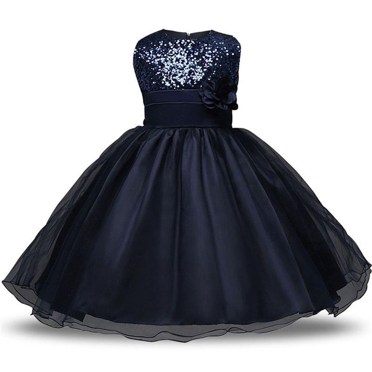 0ebb4c6dd44548 vestido infantil paetês - tamanho 4 anos