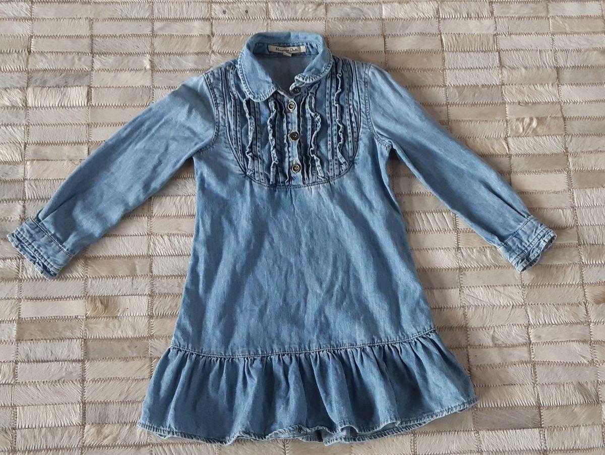 a12e84c8104525 vestido jeans manga comprida. 3-4 anos. massimo dutti portugal