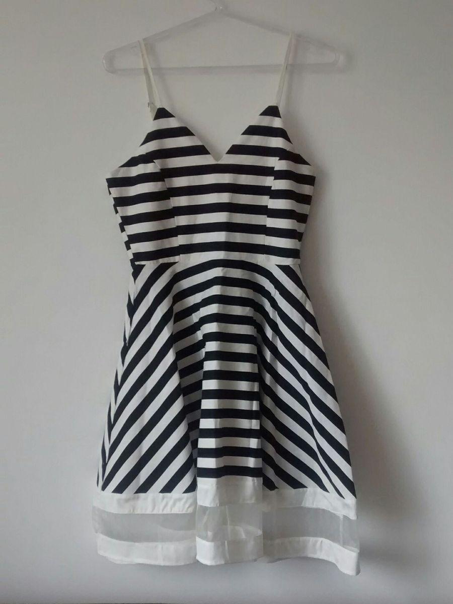 vestido listrado - vestidos sem-marca
