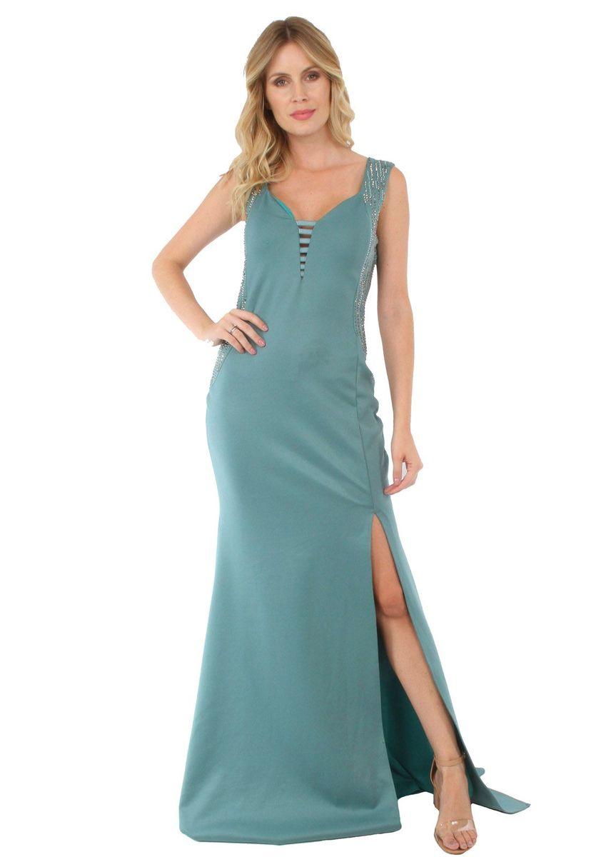 vestido longo bordado gg - vestidos de festa soellas boutique