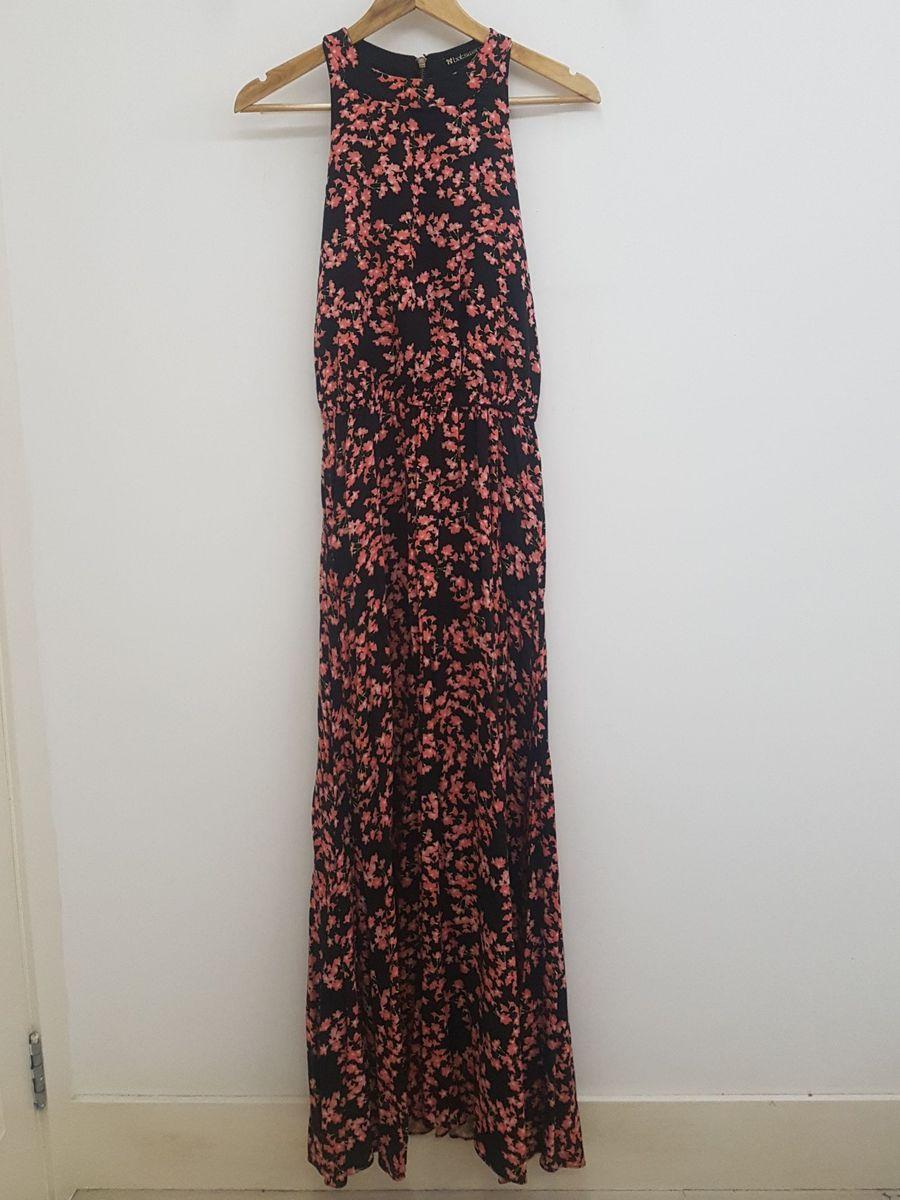 vestido longo estampado botswana - vestidos botswana