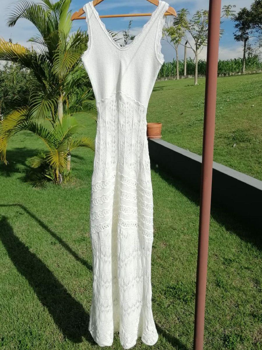 vestido longo galeria tricot - vestidos galeria-tricot