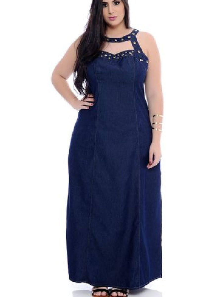4832c133ca vestido longo jeans plus size - vestidos legítima defesa
