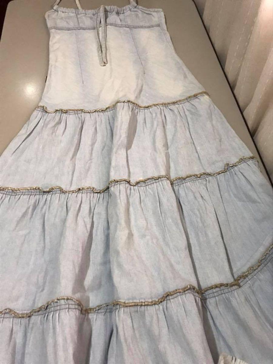 vestido longo jeans - vestidos sem marca