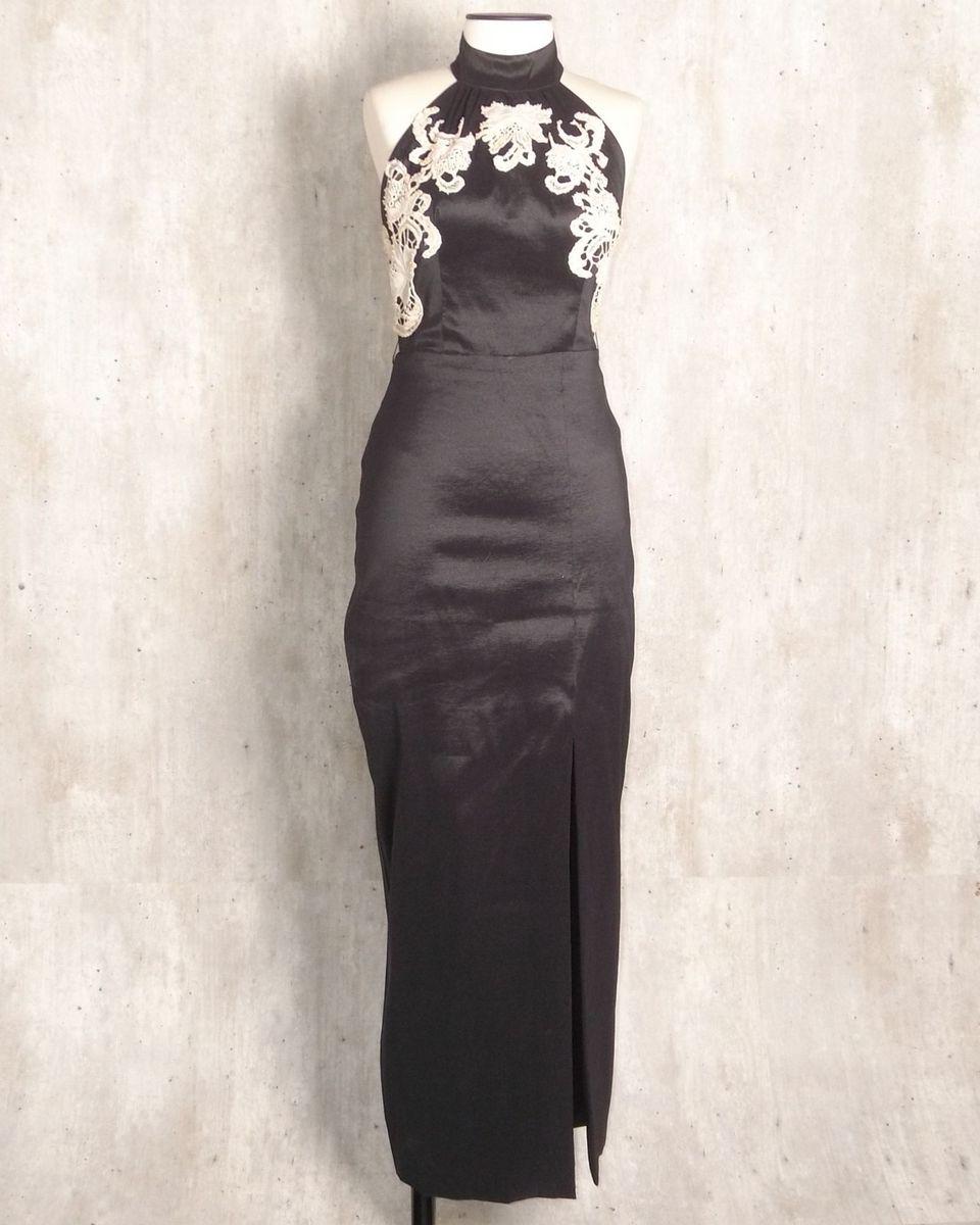 99a02daea vestido longo preto com bordado e perolas - vestidos de festa sem marca