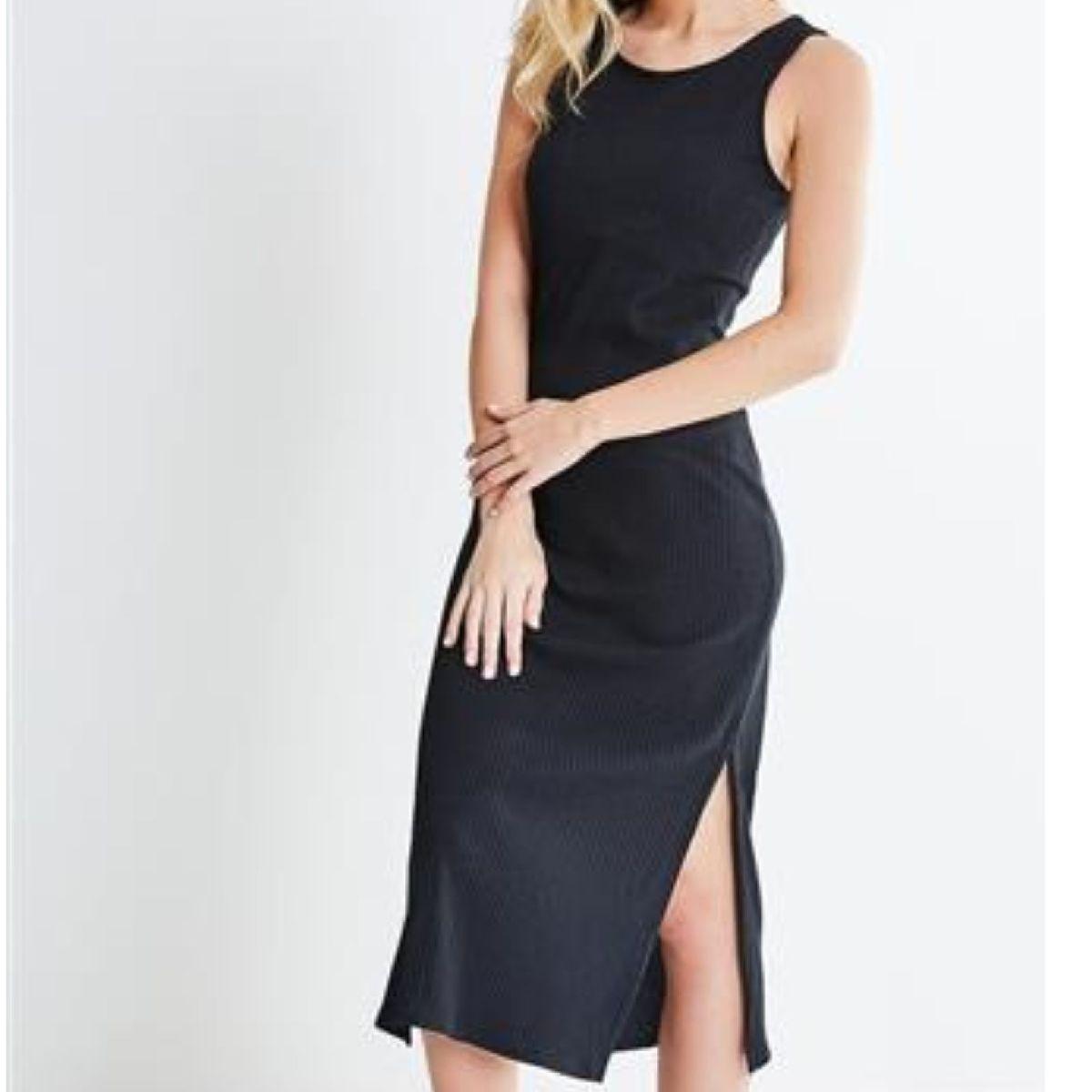 Vestido Longo Tecido Glitter Com Abertura Lateral Na Perna Vestido Feminino Dank Nunca Usado 35405494 Enjoei