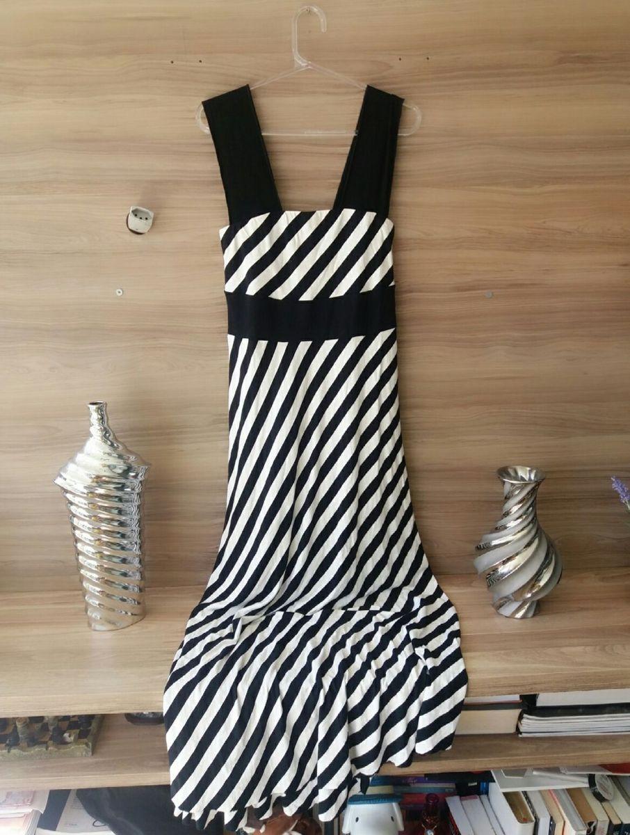 vestido longo zebrinho - vestidos madame-ms