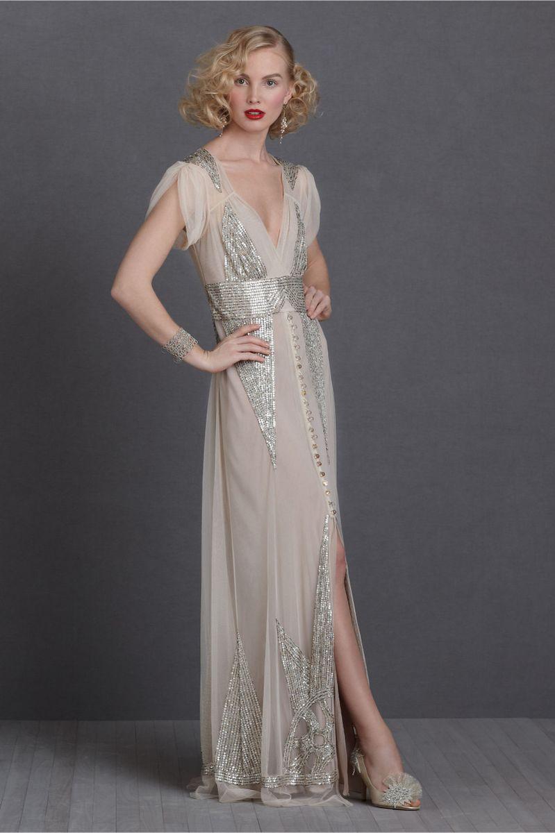 6dfb67f0f vestido anna sui de noiva festa (art deco style) - vestidos de festa