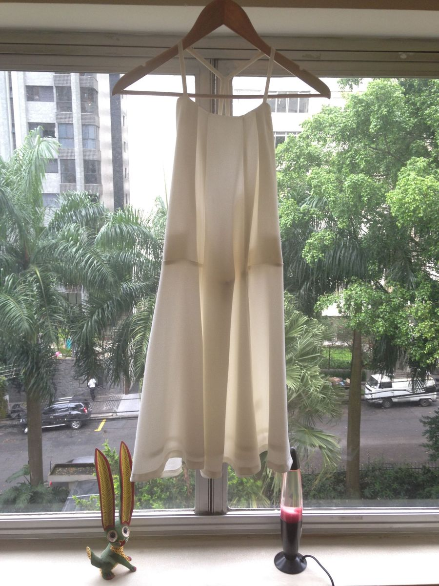 vestido off white - vestidos sem marca