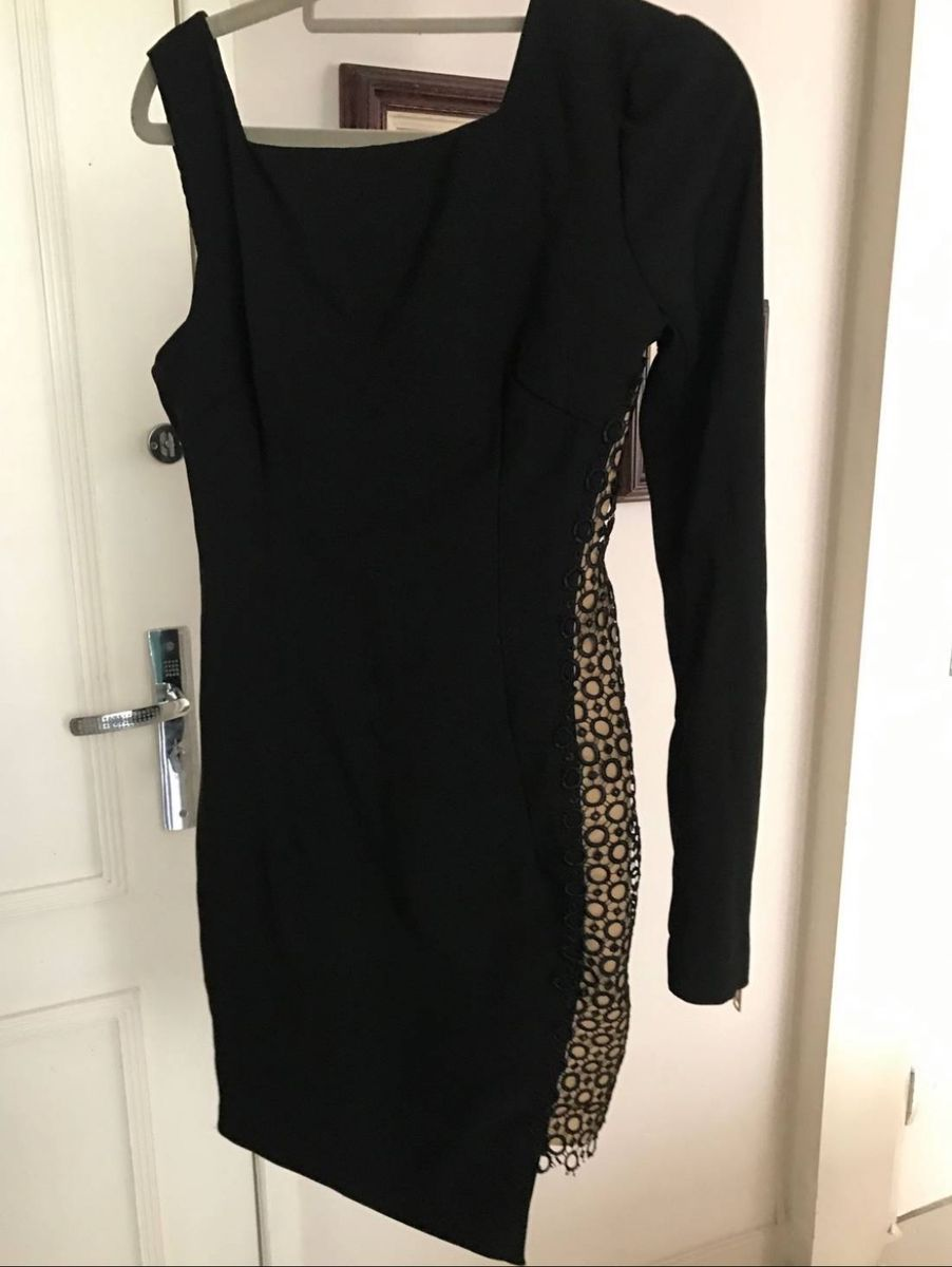vestido preto um ombro so - vestidos agilita