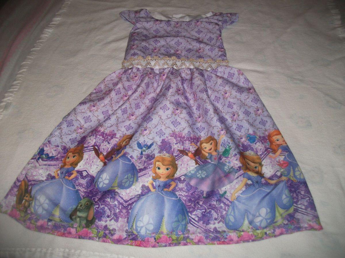 7824cfa8b5 vestido princesa sofia - tamanho g (veste 7 8 anos) - novo -