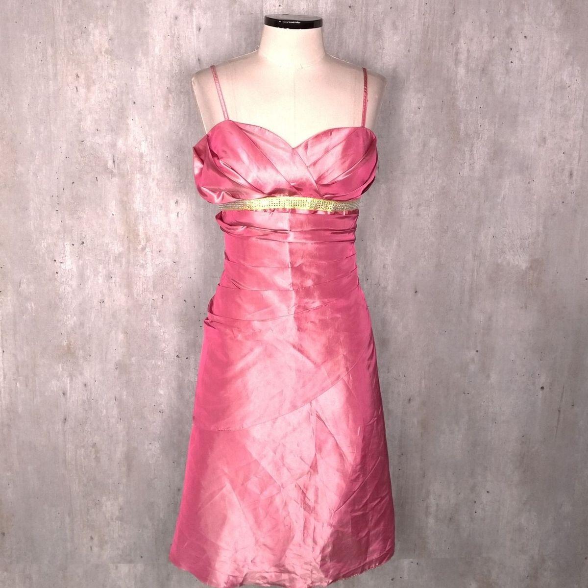 3ef63d98bc Vestido Rosa Acetinado